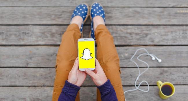 como usas snapchat para negocios