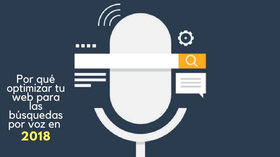 Por qué optimizar tu web para las búsquedas por voz en 2018